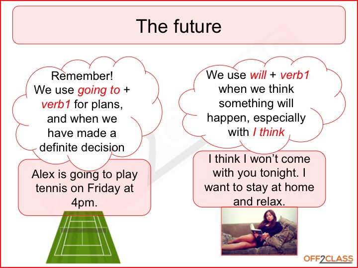english future and presentation The following english lesson plan focuses on future continuous and is suitable for b2 english lesson plan – future continuous presentation 1.