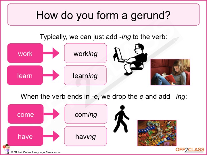 gerunds infinitives There are several differences between gerunds and infinitives and how they are  used in english sometimes, however, native english speakers do not follow.