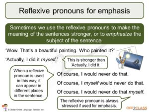 possessive, reflexive and reciprocal pronouns