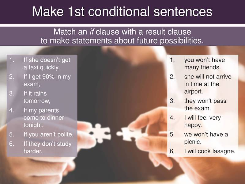 teach the first conditional