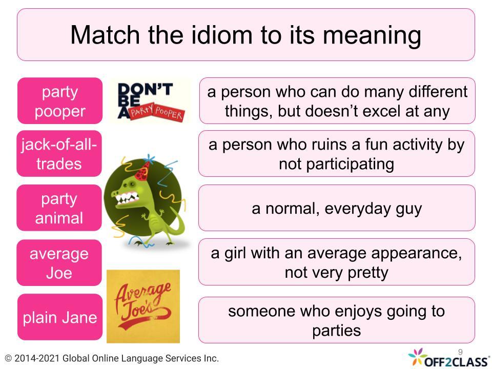 Lesson plans to teach idioms