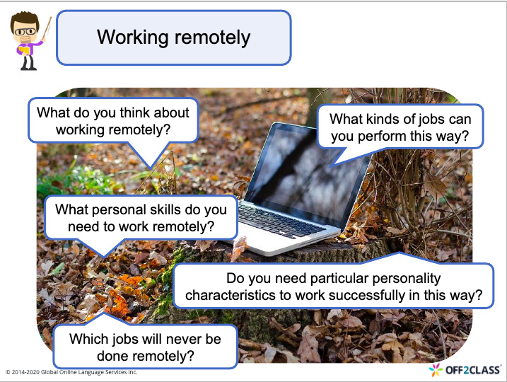 lesson plan Working Remotely