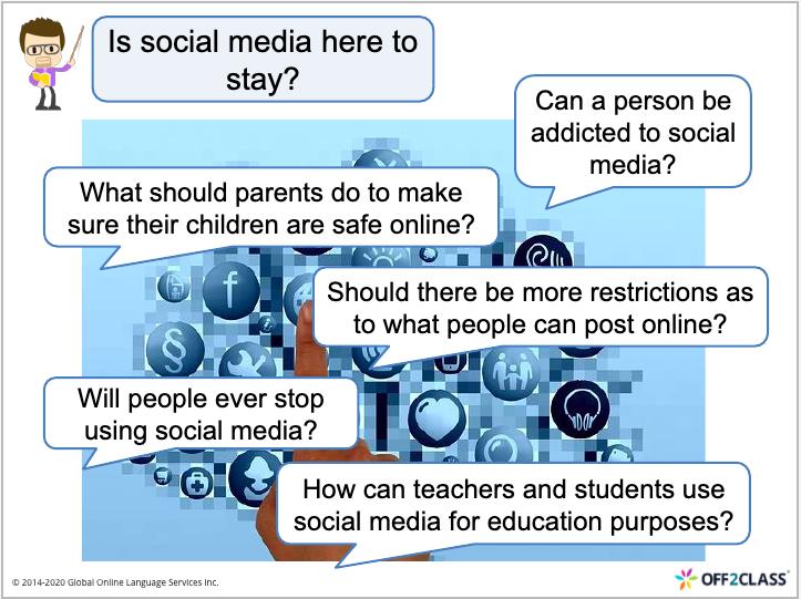 speaking ESL lesson plan Facebook Social Media