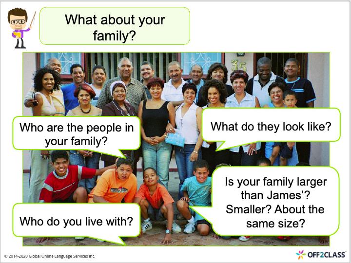 speaking ESL lesson plan Family