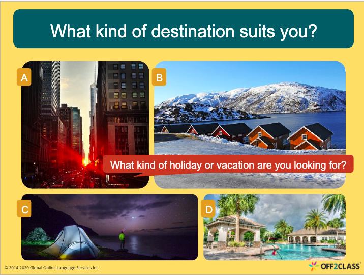 Vacation Planning ESL lesson