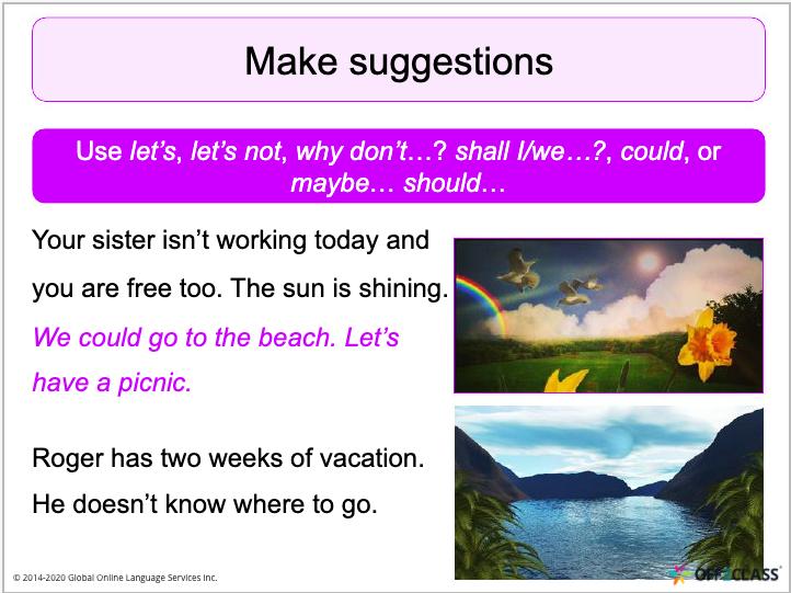 ESL lesson plans suggestions